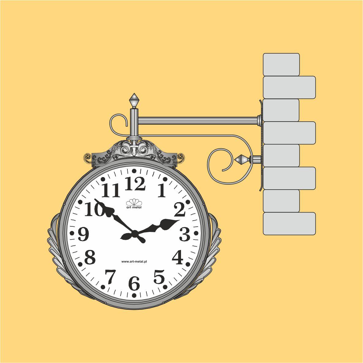 Zegar naścienny zewnętrzny produkcji Art Metal