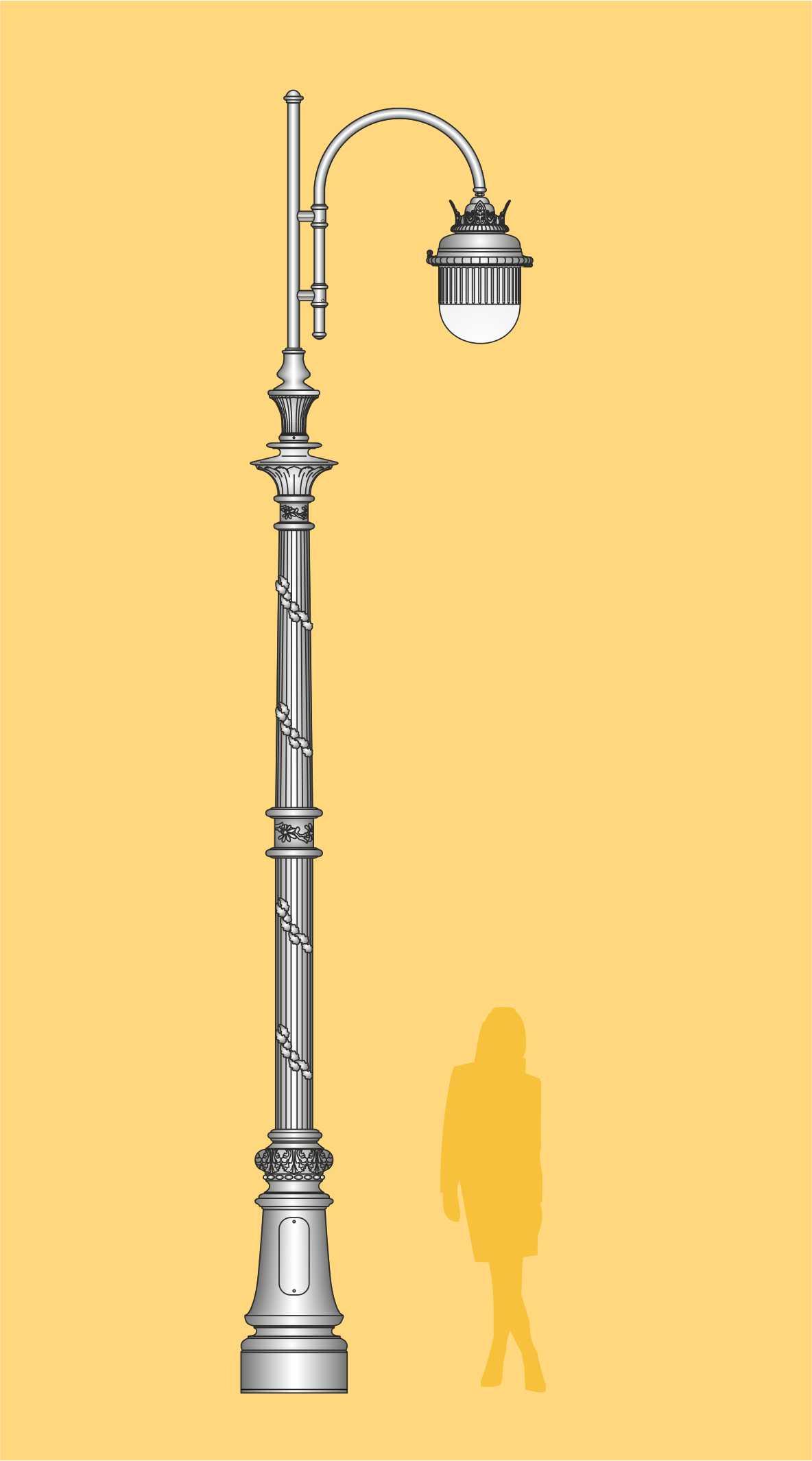 ekskluzywna latarnia stylowa, latarnia uliczna, oświetlenie ogrodowe, oprawa LED